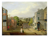 Street Scene in Chorley, Lancashire, with a View of Chorley Hall, c.1790-1817 Giclee Print by  Bird