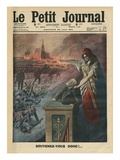 Disarmament of France, Jean Jaures and Marianne, Illustration from 'Le Petit Journal' Giclee Print by  French