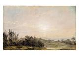 Hampstead Heath, Looking Towards Harrow, 1821-22 (Oil on Paper Laid on Canvas) Giclee Print by John Constable