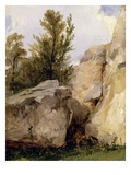 In the Forest of Fontainebleau, C.1825 (Oil on Canvas) Giclee Print by Richard Parkes Bonington