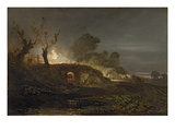 A Lime Kiln at Coalbrookdale, C.1797 (Oil on Panel) Giclee Print by J. M. W. Turner