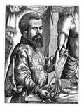 Portrait of Andreas Vesalius (1514-64) from His Book 'De Humani Corporis Fabrica', 1543 Giclee Print by Jan Stephen van Calcar