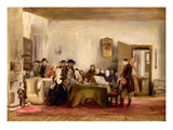 Sketch for 'The Reading of a Will', C.1820 (Oil on Board) Giclee Print by Sir David Wilkie