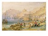J. M. W. Turner - St. Mawes, Cornwall, C.1823 (W/C on Paper) Digitálně vytištěná reprodukce