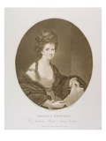 Angelica Kauffman, after Reynolds, 1780 (Stipple Engraving) Giclee Print by Francesco Bartolozzi