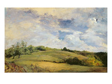 Landscape and Clouds (Oil on Canvas) Giclee Print by Louis Antoine Leon Riesener