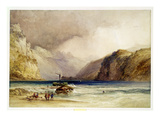 Wallenstadt, from Wesen, Switzerland, 1842 (W/C and Bodycolour on Wove Paper) Premium Giclee Print by William Callow