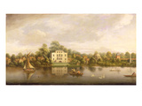 Pope's Villa, Twickenham, C.1765 (Oil on Canvas) Giclee Print by Joseph Nickolls
