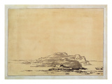 Fantastic Landscape, 1780-85 (Wash with Pencil on Paper) ジクレープリント : アレクサンダー・カズンズ