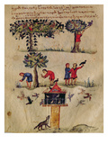 Ms Grec 479 Hunting for Birds, Illustration Probably from the Ixeutika by Oppian Premium Giclee Print by  Italian