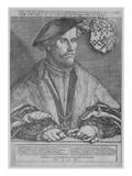 Duke Wilhelm V of Cleve, 1540 (Engraving) Giclee Print by Heinrich Aldegrever