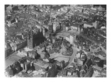 Aerial View of Halle, Saxony-Anhalt (B/W Photo) Giclee Print by  German photographer