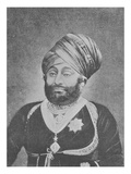 Maharaja Mansinhji Ii, Raj Sahib of Dhrangadhra (Engraving) Giclee Print by  English Photographer