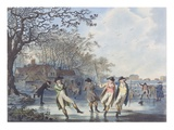Winter Amusement: a View in Hyde Park from the Moated House, 1787 (Aquatint) Giclee Print by Julius Caesar Ibbetson