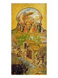 Capture of Montezuma and Clashes with the Spanish on the Streets of Tenochtitlan (Oil on Canvas) Giclee Print by  Spanish