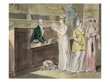 The Circulating Library (Pen and Ink and W/C and Wash on Wove Paper) Giclee Print by Isaac Cruikshank