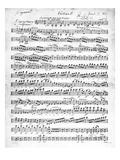 Sheet Music for the Overture to &#39;Egmont&#39; by Ludwig Van Beethoven, Written Between 1809-10 (Print) Giclee Print by  German