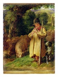 Shepherd Boy, 1831 (Oil on Panel) Giclee Print by John Linnell