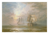 Men of War at Anchor, 1873 Giclee Print by Henry Thomas Dawson