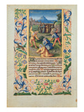 Ms Lat. Q.V.I.126 the Stoning of St. Stephen, from the 'Hours of Louis D'Orleans', 1469 (Vellum) Giclee Print by Jean Colombe