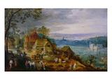 Landscape Scene Giclée-Druck von Tobias Verhaecht