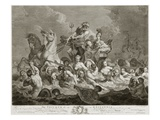 The Triumph of Britannia, C.1765 (Engraving) Giclee Print by Simon Francois Ravenet