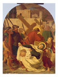 The Carrying of the Cross (Oil on Panel) Giclee Print by Johann von Schraudolph