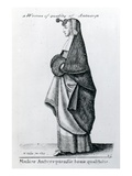 Woman of Quality from Antwerp, 1643 (Etching) Giclee Print by Wenceslaus Hollar