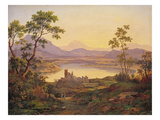 Italian Landscape (Oil on Board) Giclee Print by Joachim Faber