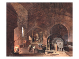 Interior of an Ironworks, c.1850-60 Giclee Print by Godfrey Sykes