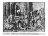 Life of Christ, Adoration of the Magi, Preparatory Study of Tapestry Cartoon Giclee Print by Henri Lerambert