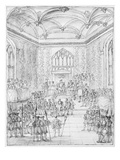 Henry Viii Receiving Montmorency, the French Ambassador, at Hampton Court (Engraving) Giclee Print by William Kent