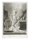 The Reunion of the Soul and the Body, Pl.13 Premium Giclee Print by William Blake