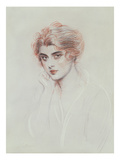 The Artist's Daughter (Coloured Pencil on Paper) Giclee Print by Paul Cesar Helleu