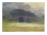 Evening Landscape with Castle and Bridge in Yorkshire, C.1798-99 (W/C on Wove Paper) Giclee Print by J. M. W. Turner