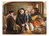 "Second Class - the Parting ""Thus Part We Rich in Sorrow, Parting Poor."", 1855 (Oil on Panel) Giclee Print by Abraham Soloman"