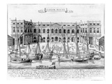 Custom House for the Port of London, 1724 (Engraving) Giclee Print by  English