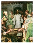 Then Came Jesus and Stood in their Midst Giclee Print by William Hatherell