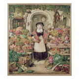 The Vegetable Stall (W/C on Paper) Giclee Print by Thomas Heaphy