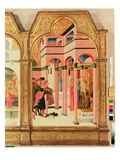 St. Francis Renounces His Earthly Father, 1437-44 (Tempera on Panel) Giclée-tryk af Sassetta