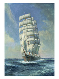 Unnamed Clipper Ship Giclee Print by Claude Marks