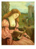 St. Barbara (Tempera on Paper) Giclee Print by Marie Spartali Stillman