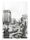 Main Street from City Hall, Port Elizabeth (B/W Photo) Giclee Print by  South African Photographer