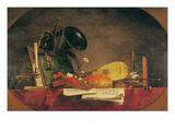 The Attributes of Music, 1765 Gicléedruk van Jean-Baptiste Simeon Chardin