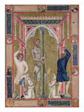 The Flagellation of Christ, from the Mariegola De La Scuola Di San Giovanni Evangelista De Venise Giclee Print by  Luca di Paolo Veneziano