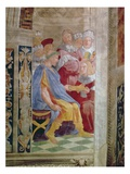 The Judicial Virtues: Pope Gregory IX Approving the Vatical Decretals Reproduction procédé giclée par  Raphael