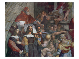 Expulsion of Heliodorus from the Temple Impression giclée par  Raphael