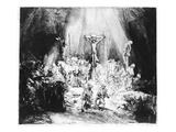 The Three Crosses, 1653 (Drypoint) Giclée-Druck von Rembrandt van Rijn