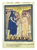 Joseph Sold by His Brothers, from a Book of Bible Pictures, C.1250 (Vellum) Giclee Print by William de Brailes