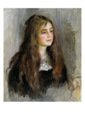 Portrait of Julie Manet (1878-1966) 1894 (Oil on Canvas) Reproduction procédé giclée par Pierre Auguste Renoir